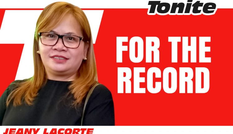 columnists—New-LOGO-Jeany Lacorte-TONITE- for the record